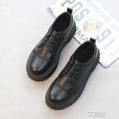 布洛克鞋春季英倫學生復古小皮鞋女圓頭厚底百搭原宿布洛克馬丁鞋   艾維朵