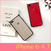 【萌萌噠】iPhone 6/6S (4.7吋) 原創簡約情侶款 手工小惡魔保護殼 全包黑邊透明殼 手機殼 手機套
