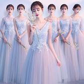 伊人閣 伴娘服冬季長款灰色修身閨蜜姐妹團禮服婚禮顯瘦晚禮服女