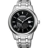 CITIZEN 星辰 光動能電量等級顯示手錶-41mm AW7001-98E