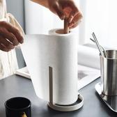 半房雜貨簡約鐵藝捲紙架家用衛生間紙巾架廚房餐桌客廳立式紙巾座   LannaS