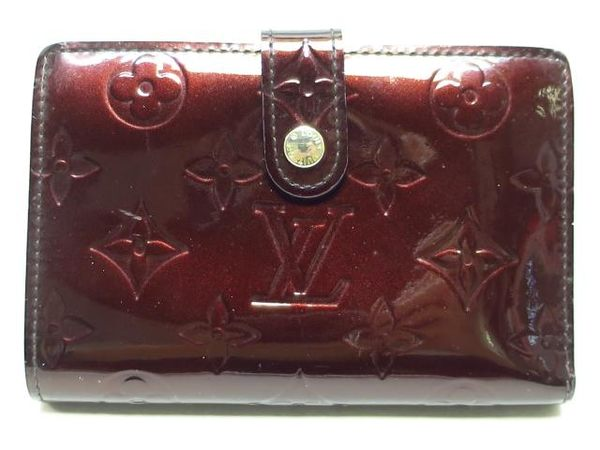 LV 酒紅色漆皮中夾 Portefeuille Viennois M93521 【BRAND OFF】