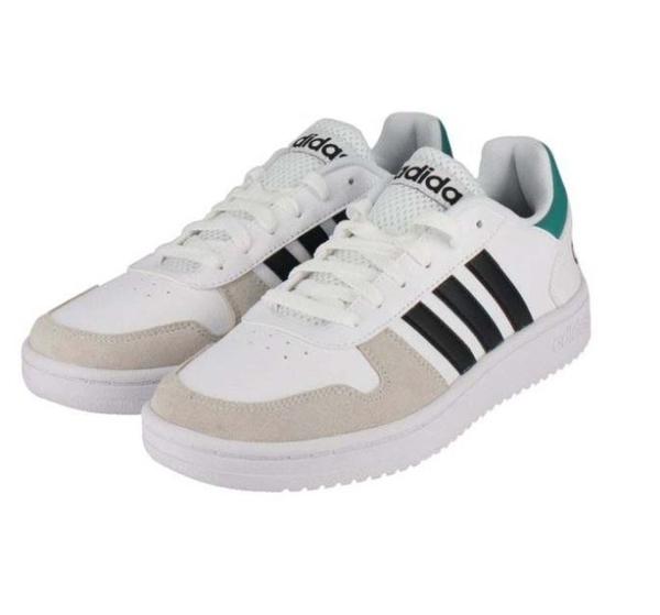 Adidas ADIHOOPS 2.0 男款白綠黑三色復古休閒鞋-NO.EE7799
