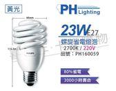 PHILIPS飛利浦 23W 827 黃光 230V E27 螺旋省電燈泡 _ PH160059