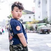 男童T恤 胖童裝男童加肥加大短袖T恤新款2019夏裝中大童寬鬆透氣休閑上衣【星時代女王】