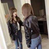短版外套 2019秋季女裝新款韓版短款夾克高腰棒球服女長袖修身小香風外套潮