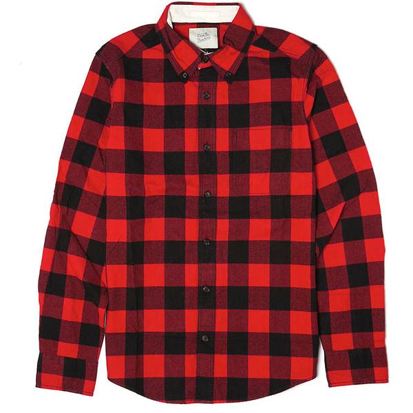 Deus Ex Machina Albie Flannel Shirt 長袖襯衫 | 騎士衝浪品牌 -(紅格紋)