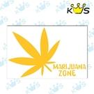 【浮雕貼紙】大麻葉 # 壁貼 防水貼紙 汽機車貼紙 11.1cm x 7.2cm