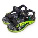LIKA夢 LOTTO 專業多功能排水磁扣戶外運動涼鞋 童趣瘋玩系列 黑綠灰 0500 大童