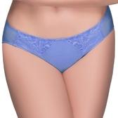 思薇爾-花霓系列M-XL蕾絲低腰三角內褲(長春藍)
