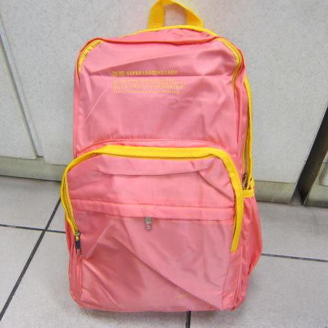 ~雪黛屋~SUPER 後背包 外出休閒旅行後背包上學上班 郊遊爬山後背防水尼龍布材質 #9816 粉紅