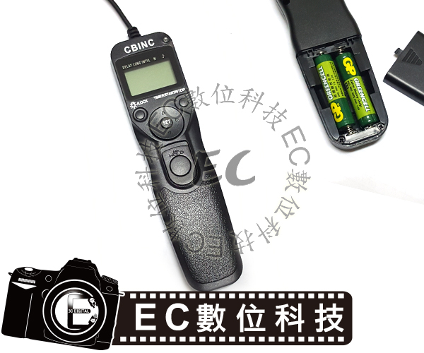 【EC數位】CBINC 液晶定時 電子快門線 RS-60E3 Canon 70D、60D、G10、G11、G12