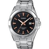 CASIO 卡西歐 城市簡約手錶-黑x銀 MTP-1308D-1A2V / MTP-1308D-1A2VDF