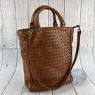 BRAND楓月 Bottega Veneta BV 200806 深棕 編織 手提包 咖啡色 肩背包 單肩背包