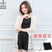 蕾絲--質感輕柔純色韓風優雅蕾絲短褲(黑.白XL-4L)-R184眼圈熊中大尺碼