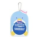 小禮堂 山姆企鵝 造型透明杯墊保護套 矽膠杯墊套 方杯墊 圓杯墊 (藍 演唱會粉絲收納) 4550337-00157