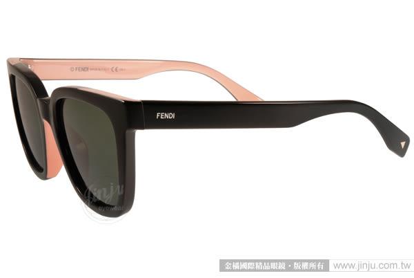 FENDI 太陽眼鏡 FS0121FS MG1X1 (黑-粉紅) 簡約唯美百搭熱銷款 # 金橘眼鏡
