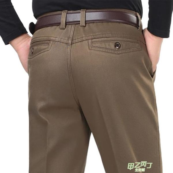 夏季新款棉質休閒褲中老年人寬鬆褲子高腰直筒爸爸裝中年褲子 30-40