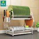 碗架瀝水架304不銹鋼廚房置物架晾放盤子...