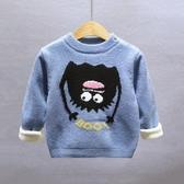 毛衣-冬季新款兒童毛衣加絨加厚男童套頭女孩秋冬款打底針織衫外套 依夏嚴選