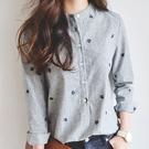 襯衫2019春裝新款襯衫女修身 韓版精品寬鬆顯瘦百搭學生棉麻長袖上衣