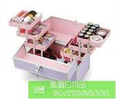 MintBear專業大化妝箱 多層折疊美甲箱 手提紋繡工具箱