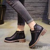 馬丁靴女英倫風靴子學生冬天韓國冬季鞋子百搭短靴棉鞋 概念3C旗艦店