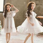 女童棉麻禮服 兒童夏季演出超洋氣公主洋裝小女孩中大童 BT4532『男神港灣』