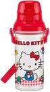 日本製直飲式透明水壺-KITTY 紅色格紋 PSB5TR
