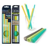 美國gosili環保矽膠吸管-珍奶組+6支組(黃綠拍檔)