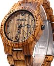 Bewell【日本代購】復古懷舊木錶 男性用木質手錶 天然環保-烏木