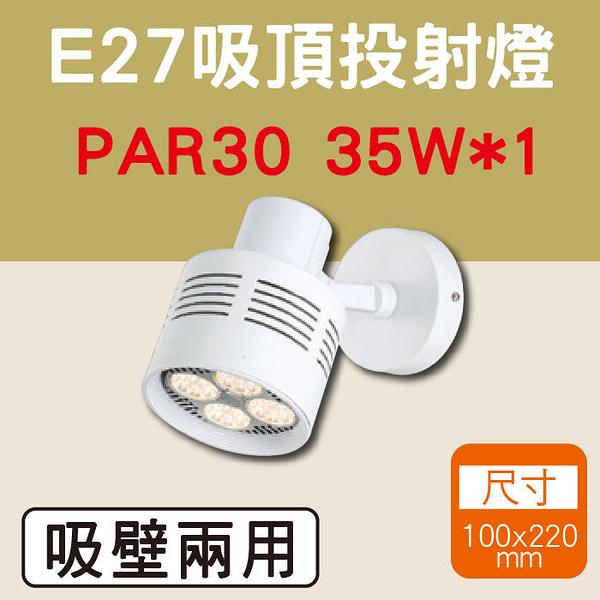 吸頂投射燈 壁燈投射燈 白光/黃光 LED燈泡 LED E27軌道燈 全電壓 尺寸10X22公分【奇亮科技】含稅