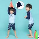 兒童泳衣 男孩男童學生泳褲分體防曬中大童加大碼胖寶寶游泳裝