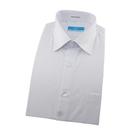 【南紡購物中心】【襯衫工房】長袖襯衫-白色素面緹花