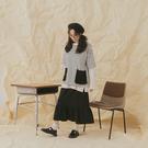 Queen Shop【01039115】撞色條紋大口袋造型圓領上衣*現+預*