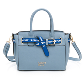 PLAYBOY- 手提包附長背帶  玩色繽紛系列 -淡藍色