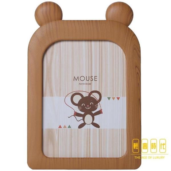 卡通可愛動物相框擺臺兒童寶寶相冊框掛墻相架照片【輕奢時代】