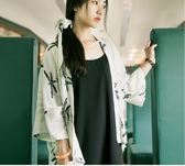 防曬衣 夏季新款日式和風短外套女寬松開衫披肩七分袖雪紡復古防曬衣 至簡元素
