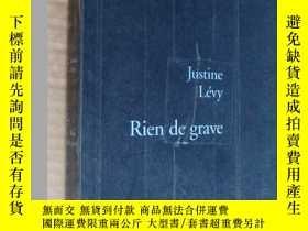 二手書博民逛書店Rien罕見de grave 法文原版大24開Y164737 J