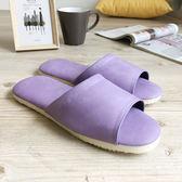 台灣製造-簡約輕巧-皮質室內拖鞋-韻色-紫