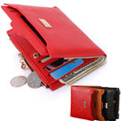 金屬鑽牌女短夾 零錢拉鍊短皮包錢包 4色【F9009】