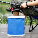 ♚MY COLOR♚  摺疊便攜款水桶 戶外 露營 洗車 汽車 伸縮 釣魚 魚桶 車用 摺疊水桶 加厚 【L58-1】