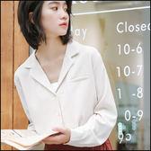 條紋長袖襯衫上衣★ifairies【54356】