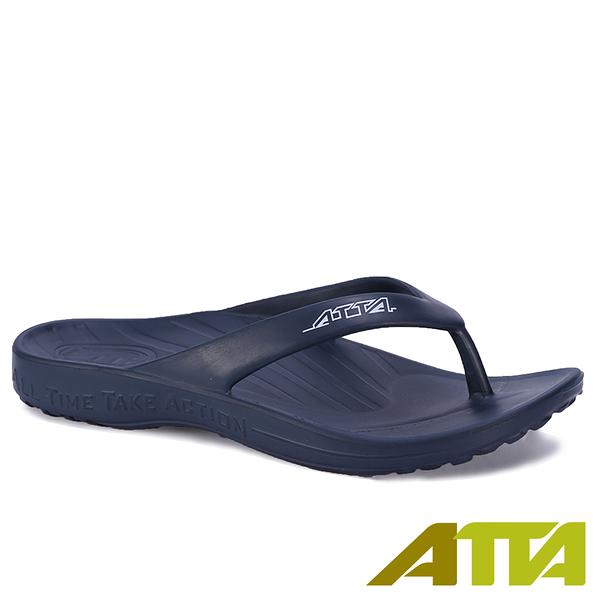 【333家居鞋館】好評回購 ATTA足底均壓 足弓簡約夾腳拖鞋-藍色