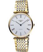 LONGINES 浪琴 嘉嵐系列經典機械腕錶/手錶-白x雙色版 L47082117