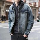 牛仔外套男士潮牌歐美上衣韓版潮流2020春秋新款寬鬆休閒工裝夾克「時尚彩紅屋」