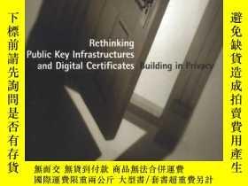 二手書博民逛書店Rethinking罕見Public Key Infrastructures And Digital Certif