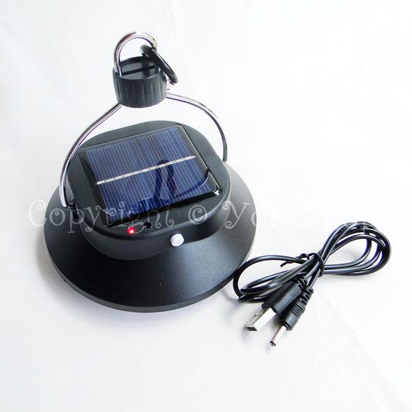 【YourShop】太陽能+充電+可輸出 吊掛式兩段LED露營燈 ~輕巧方便攜帶~