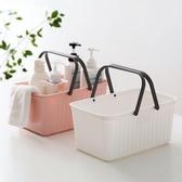 日式手提洗澡籃浴室塑料收納籃長方形沐浴收納筐洗澡筐浴筐小籃子【父親節秒殺】