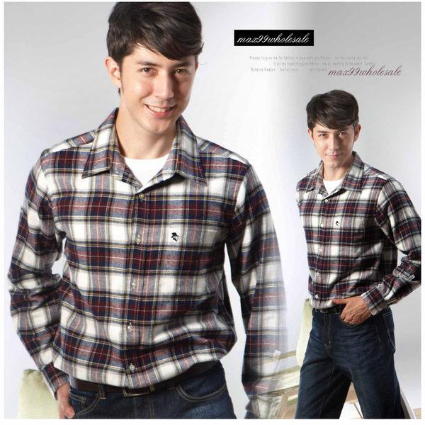 【大盤大】(S61798) 男 純棉 法蘭絨襯衫 格紋上衣 長袖襯衫 厚 休閒襯衫 禮物【XL號斷貨】